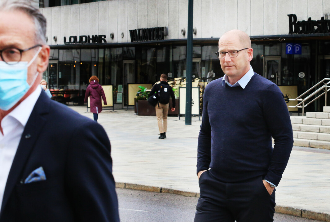 Tor Arne Gangsø i KS og Steffen Handal i Unio