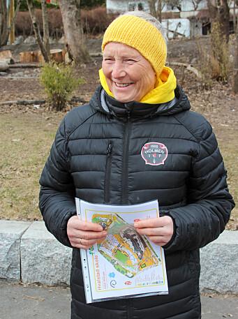 Astrid Lereim, ansatt på 4. trinn på SFO på Hvalstad skole, mener gruppedynamikken blir god av å være ute.