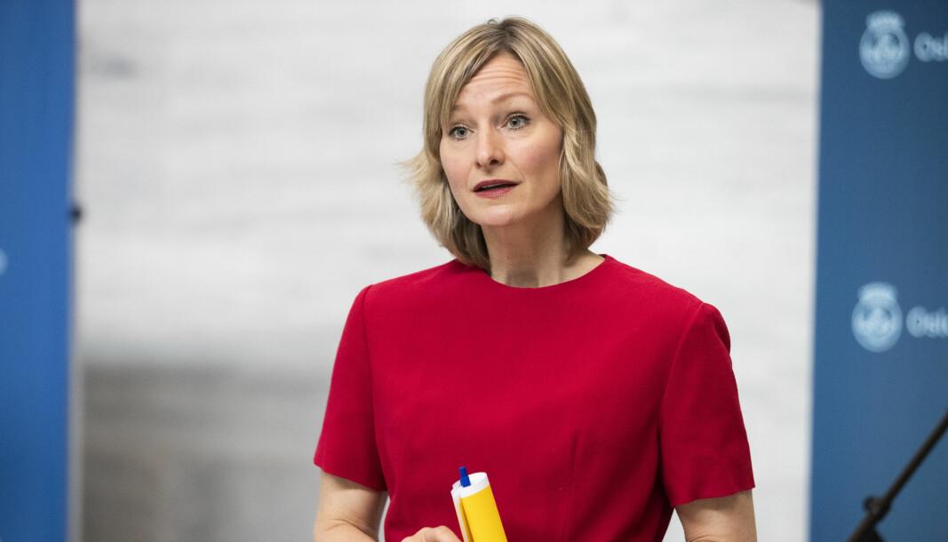 Skolebyråd i Oslo Inga Marte Thorkildsen mener muntlig eksamen bør avlyses.