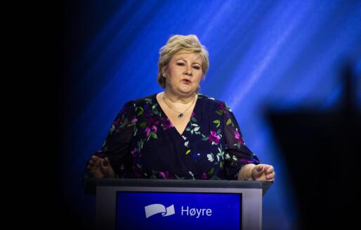 Erna Solberg varsler ungdomsskolereform
