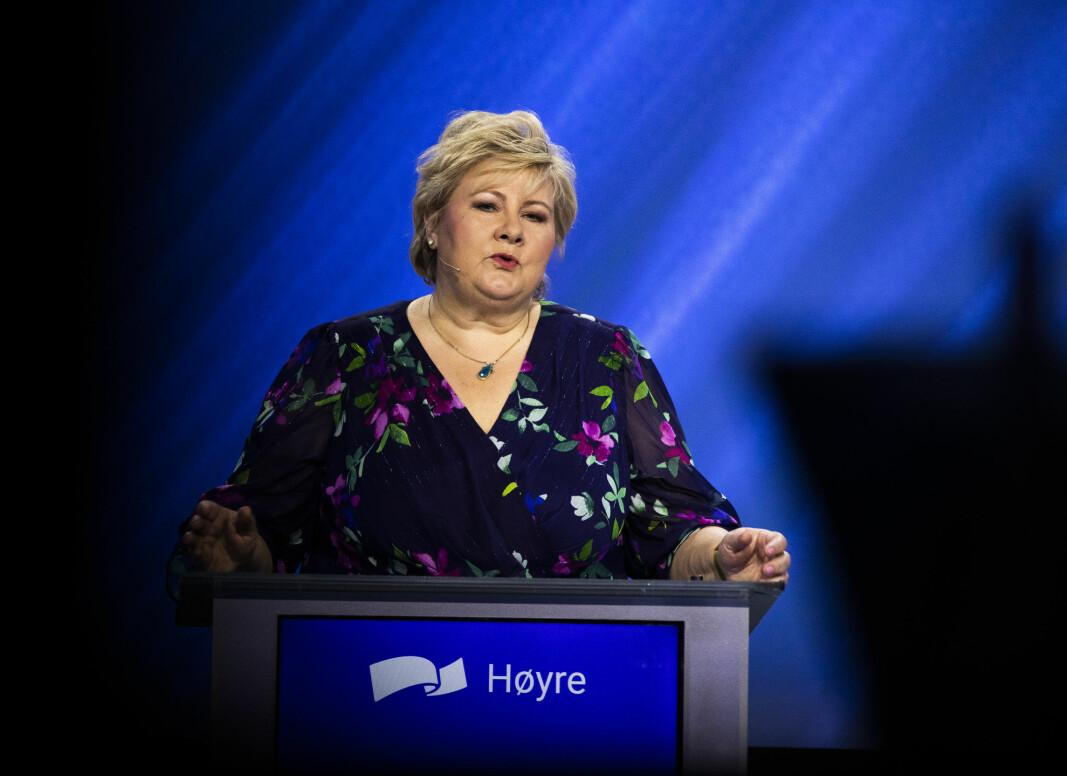 I sin tale til Høyres landsmøte tok Erna Solberg til orde for en reform for å øke ungdomsskoleelevenes læring, trivsel og motivasjon.