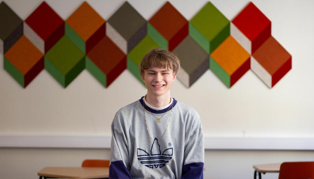 Leder i Elevorganisasjonen, Edvard Botterli Udnæs håper elevene får tid til litt mer enn tester og vuderinger.