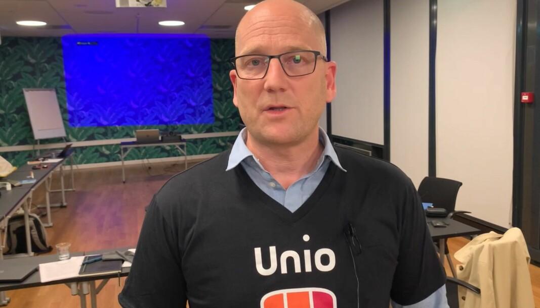 Utdanningsforbundets leder og streikegeneral for Unio, Steffen Handal.