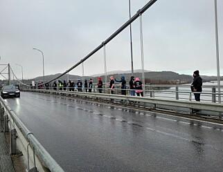 Alta-lærere markerte streiken i morgenrushet