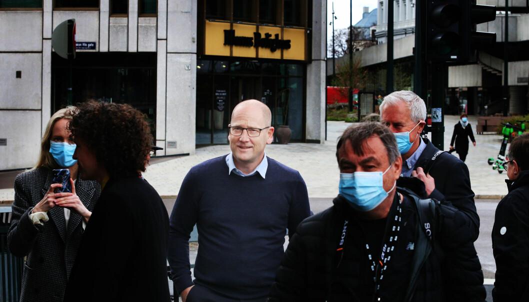 Steffen Handal, på dette tidspunktet forhandlingsleder for Unio, nå streikeleder.