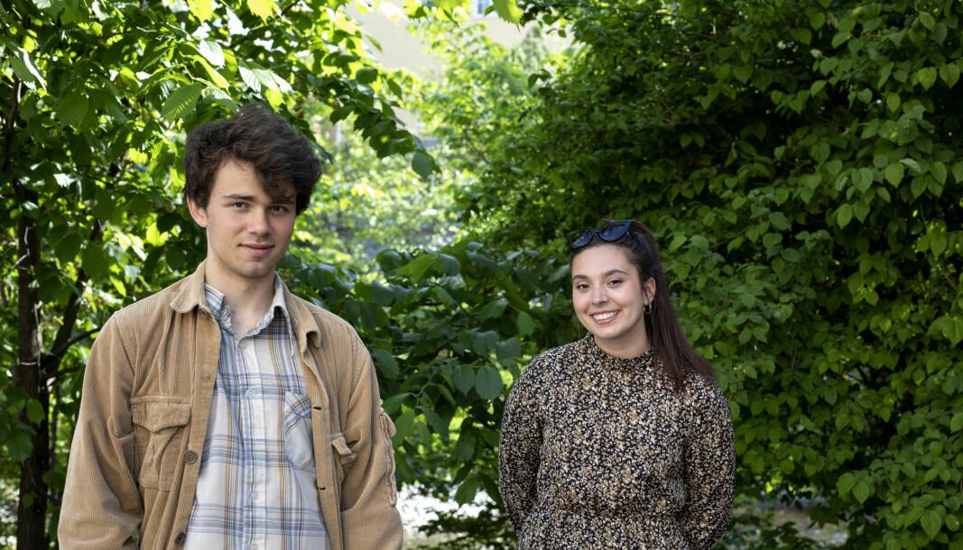 Uflaks: Martin (20) og Sarah (21) avsluttet videregående i 2019, men valgte utsette studiene ett år. Året etter kom de ikke inn.