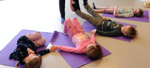 Yoga i barnehagen bidrar til at barna blir mer konsentrerte og mindre slitne