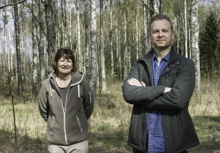 Faglig leder Rose Skottheim og student Stefan Hauge Kjørum.
