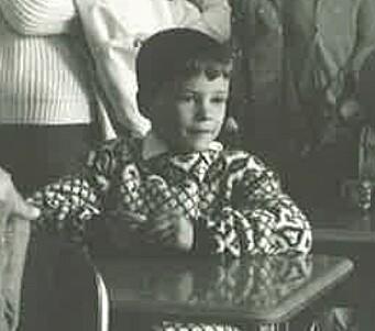 Lille Jonas første skoledag på Slemdal skole.