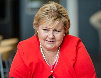 Høyre-leder Erna Solberg: Vil videreutdanne lærere i flere fag