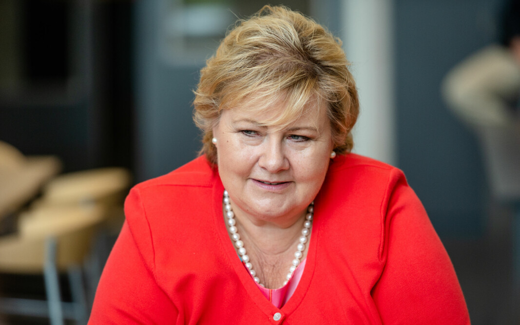 Statsminister Erna Solberg mener tiden er kommet for å reformere ungdomstrinnet med mer praktiske fag.