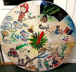 Barna lærer om den samiske åtteårstidskalenderen, som er viktig i samisk tradisjon. Barna lærer hvilke arbeidsoppgaver som blir utført i de forskjellige deler av året.
