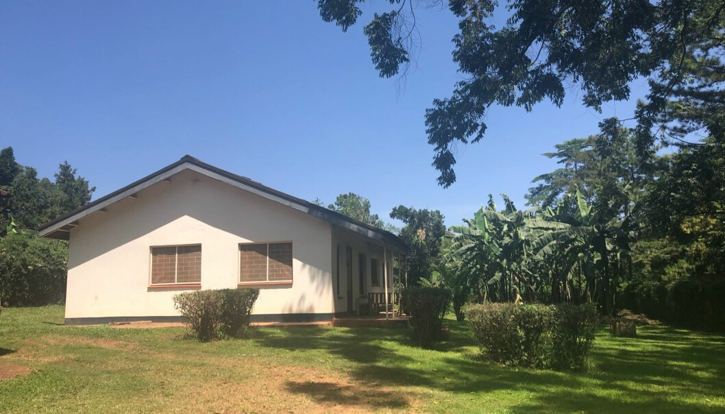 Studentene bodde i dette huset på Kyambogo University mens de hadde praksis i ugandiske barnehager