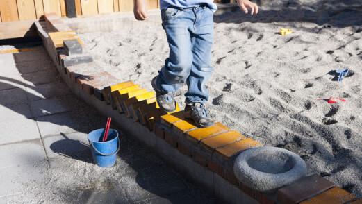 SV vil gi barnehagebarna mer plass å boltre seg på utendørs