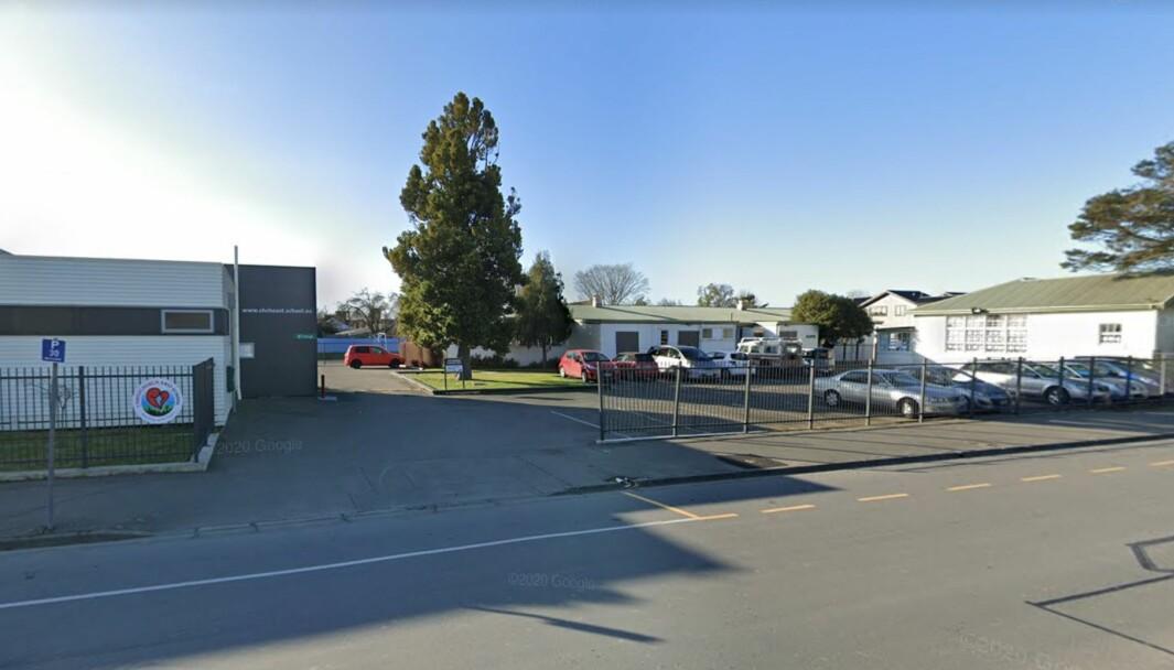 Alle skoler på New Zealand er stengt. Her fra Christchurch East School i Christchurch. Foto: Google