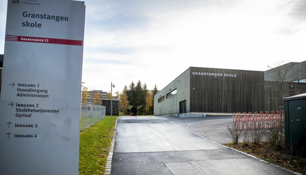 Granstangen skole i Oslo stenger etter at det de siste dagene er påvist smittetilfeller ved skolen.
