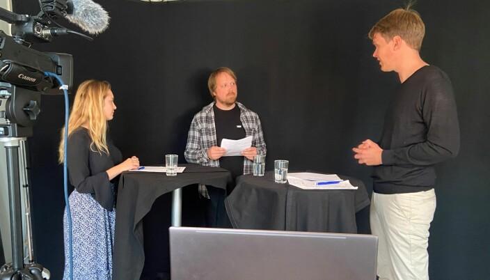 De politiske kamphanene Mathilde Tybring-Gjedde og Torstein Tvedt Solberg fyrte løs i valgduellen hos Utdanningsnytt.