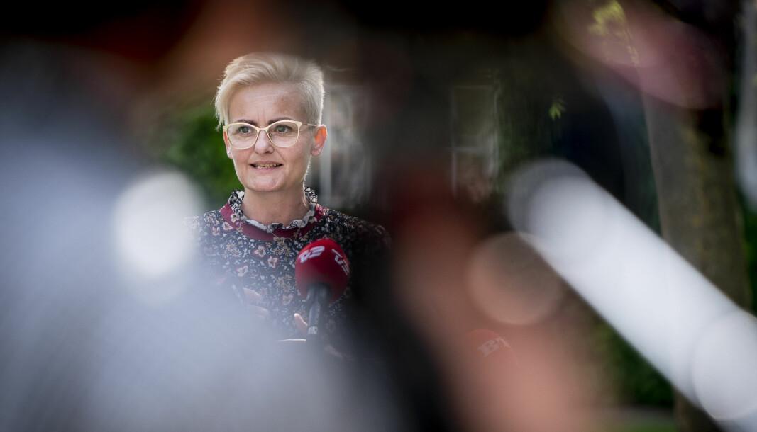 Barne- og undervisningsminister Pernille Rosenkrantz-Theil er glad for den nye tverrpolitiske avtalen for videregående skoler i Danmark.