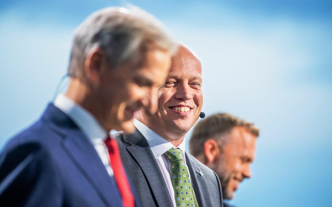 Arbeiderpartiet, Senterpartiet og SV har flertall i Stortinget. Nå skal Jonas Gahr Støre, Trygve Slagsvold Vedum og Audun Lysbakken i forhandlinger.