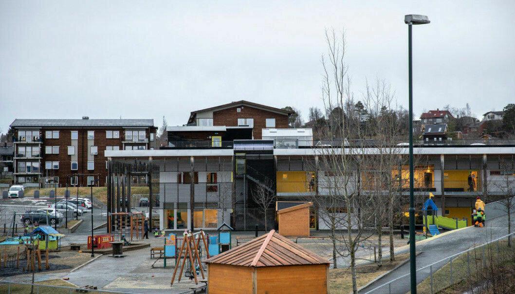 Gnist-barnehagene selges til Norlandia. Her ved Gnist Trøa i Trondheim. Bildet er tatt i en annen anledning.