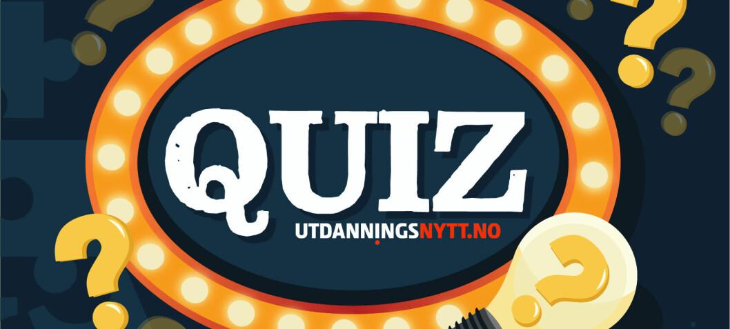 Prøv vår nye quiz