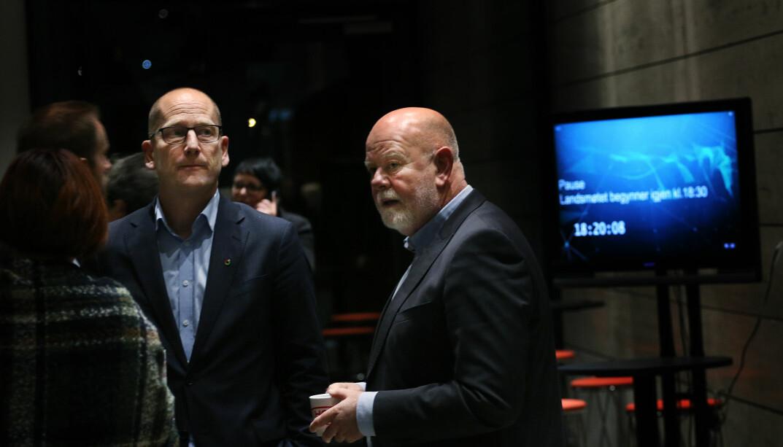 Steffen Handal og Terje Skyvulstad, leder og nestleder i Utdanningsforbundet.