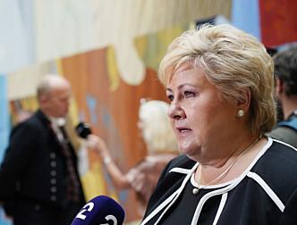 Erna Solberg ber Støre bevare fullføringsreformen i skolen