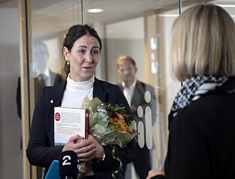 Guri Melby overleverte nøkkelkortet til Tonje Brenna