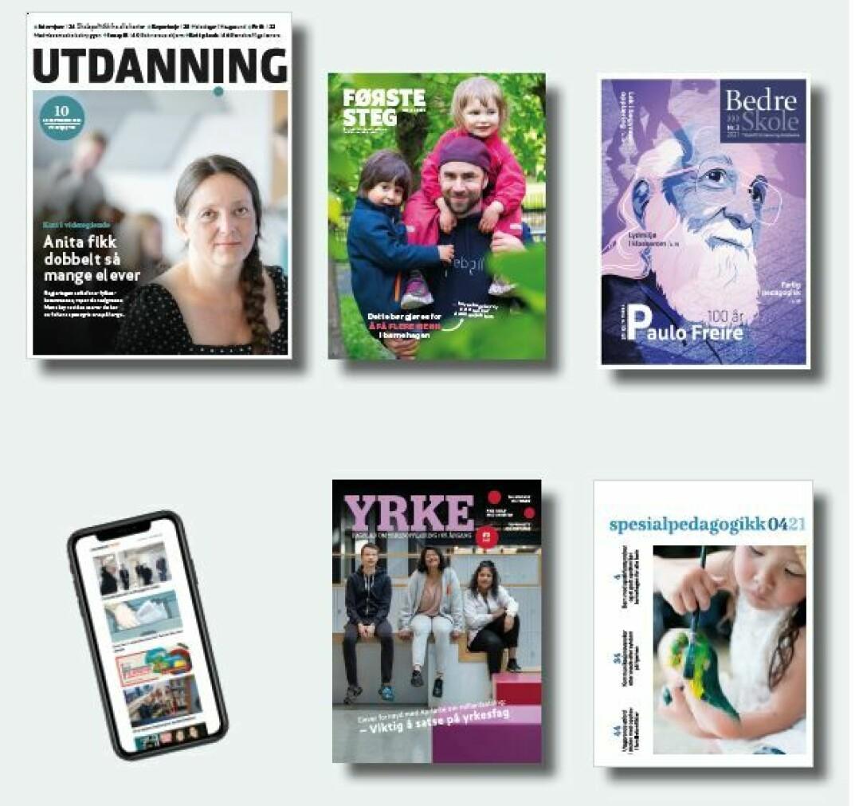 Utdanningsforbundets mediekanaler: Medlemsbladet Utdanning og nettstedet utdanningsnytt.no, samt tidsskriftene Første steg, Bedre Skole, Yrke og Spesialpedagogikk.