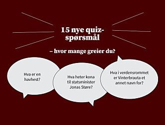 Uke 42: Ukens quiz